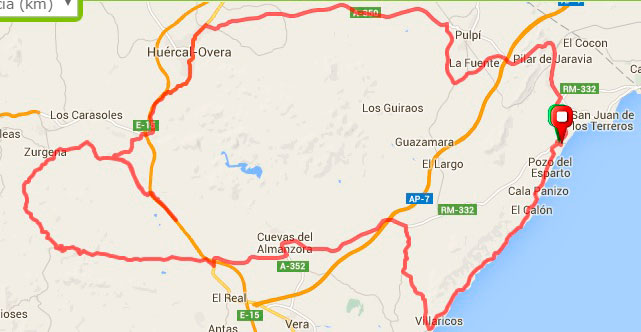 120Km - Huercal Overa por Cuevas de Almanzora