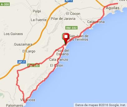 80Km - Villaricos por la costa, la Muleria, Aguilas, Mar de Pulpí