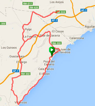 82Km - Los Arejos por Pulpí ida y vuelta por Villaricos